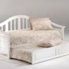 Seagull Daybed White w Trundle opened