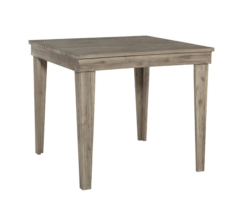 "T03-4242- 42"" Square Aspen Modern Rustic Table"