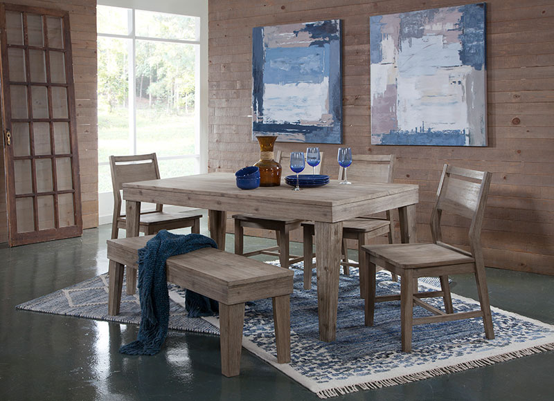 The Aspen Modern Rustic Rectangular Dining Table Is Solid