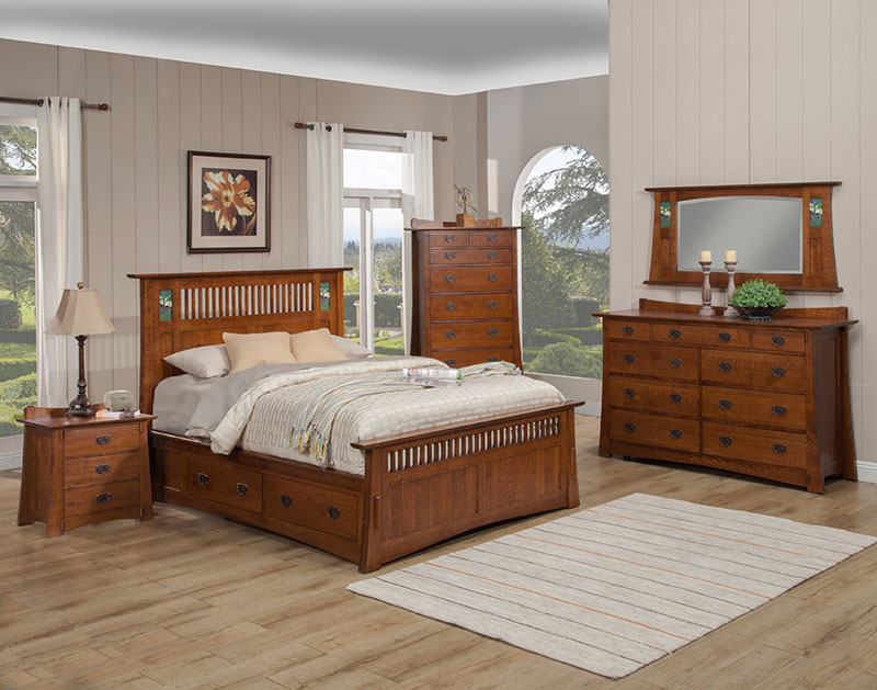 The Trend Manor Arts And Crafts Bungalow Storage Bed Is Solid Oak