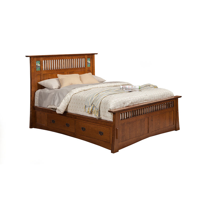 The Trend Manor Arts And Crafts Bungalow Storage Bed Is