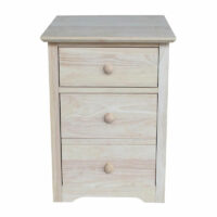 OF-51 Whitewood Rolling File Cabinet