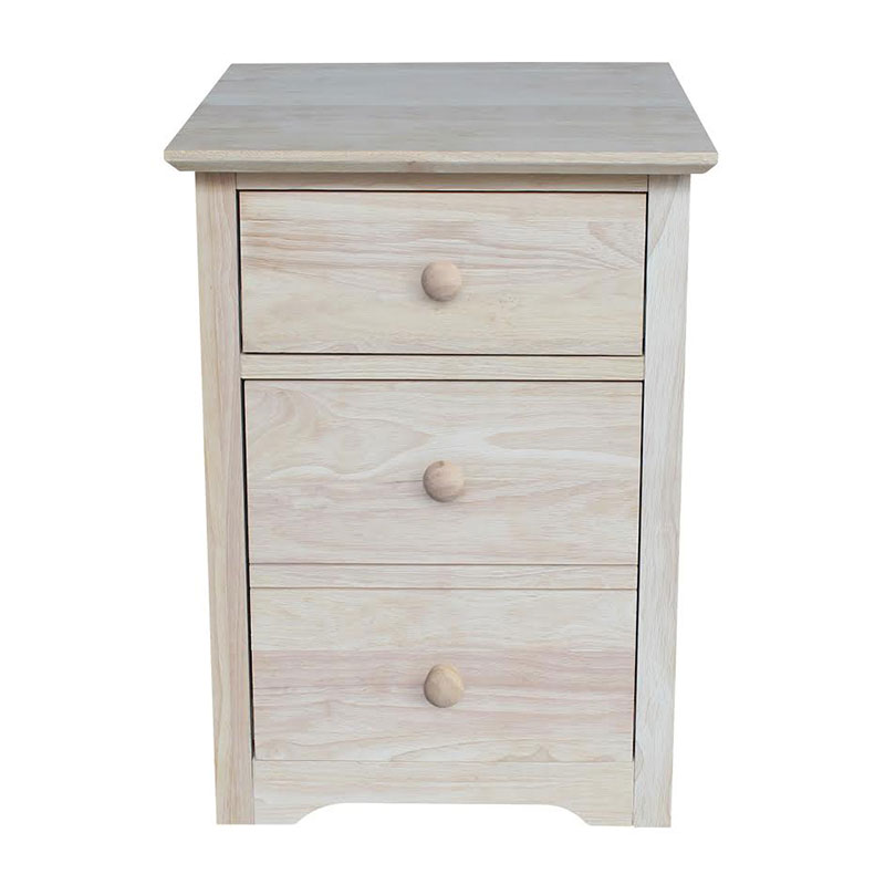 OF 51 Whitewood Rolling File Cabinet