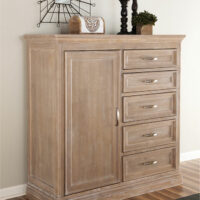 bd09-3015DW Weathered Grey BD-3015D Sonoma 5 Drawer 1 Door Chest