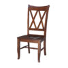 C-20 Whitewood Double X Back Chair