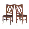 C-20 Whitewood Double X Back Chair FRONT AND BACK