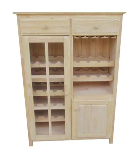 The Kitchen Door Napa: The Napa Wine Cabinet Features Real Wood Storage