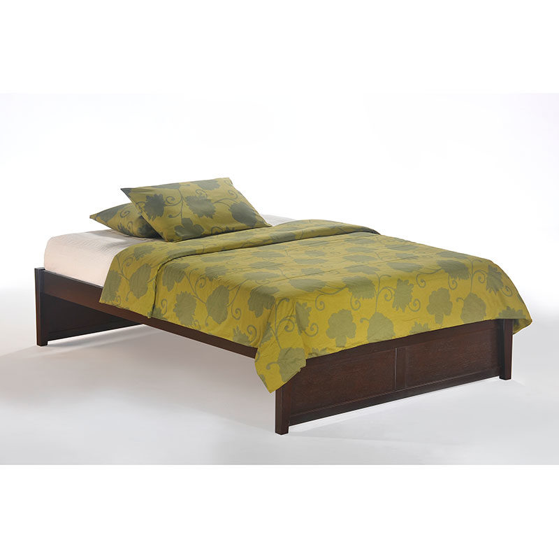 K Series Basic Bed Full Dark Chocolate