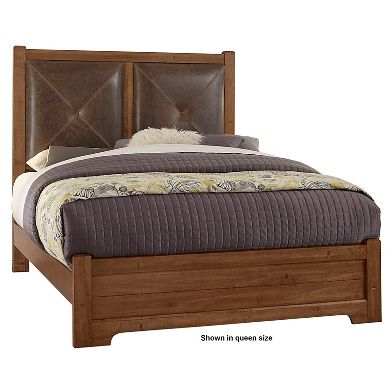 The Artisan Post Cool Rustic Leather Bed Is Made In America