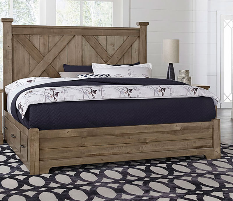 The Artisan Post Cool Rustic X Storage Bed Is Made In America