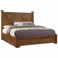 Cool Rustic X Storage Bed Artisan & Post