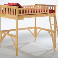 Ginger Twin Loft Bunk Natural