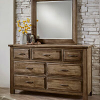 Maple Road Dresser Mirror 117-003-3W