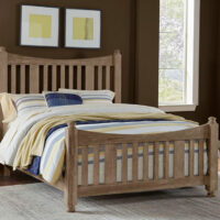 Maple Road Slat Bed Weathered Grey