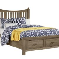 Slat Bed storage Weathered Grey
