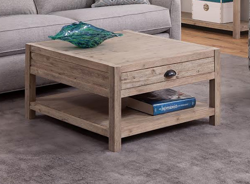 The Aspen Square Coffee Table Is Solid Wood With A Rustic Design