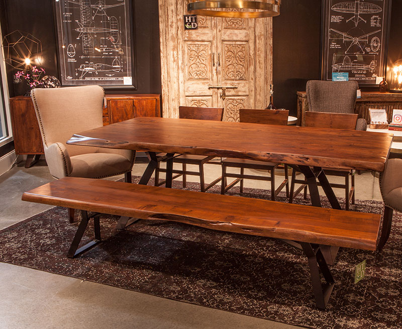 Exterior Balcony Ceiling Designs, The London Loft 106 Live Edge Dining Set Is A Great Value