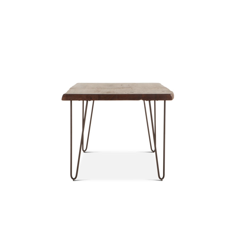 The Vail Live Edge Dining Table Features Hair Pin Legs And