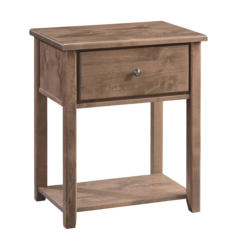 Amish Kitchen Cabinets Knotty Alder: The Archbold Fulton Knotty Alder Nightstand Is Solid Wood
