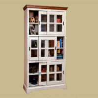 146 Louver 6 Door Sliding Door Bookcase