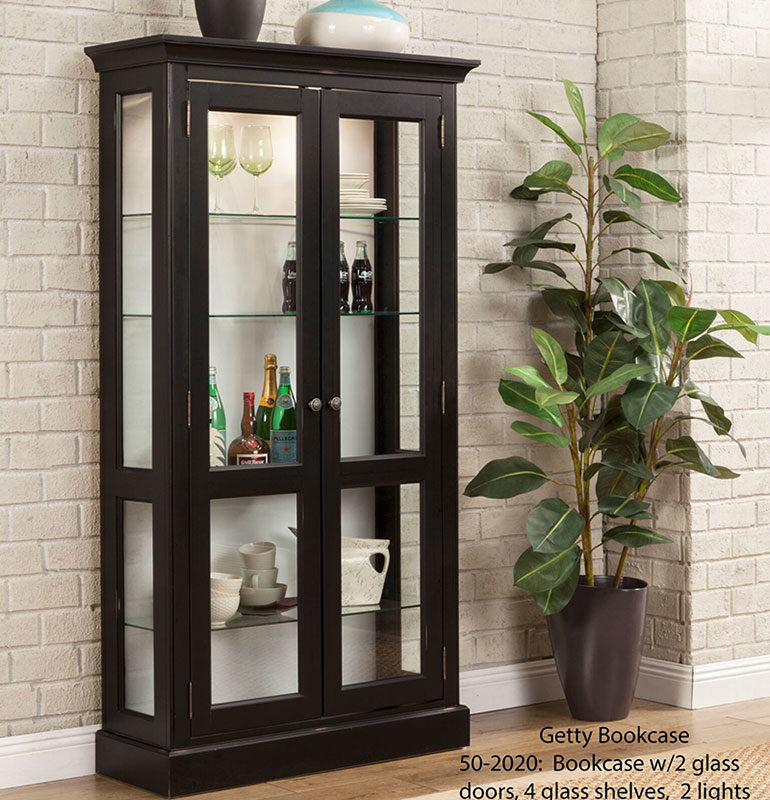 North American Curio 50-2020 Getty Bookcase