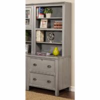 NAW 30″ Wide Lateral File with Open Hutch