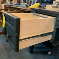 Writing desk file drawer