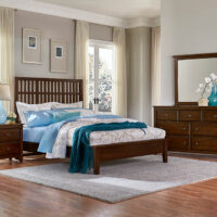 Dark Cherry Mission Slat Bed Artisan & Post