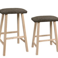 Saddle Seat Upholstered Stool
