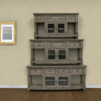 IFD2701 Botero Gray Media TV Stand