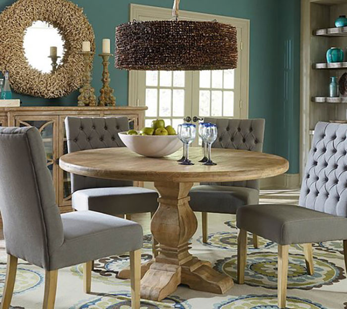 The San Rafael Round Dining Set Features 3 Tables With Chair Options