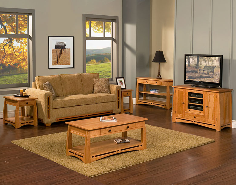 The Trend Manor African Inlay Living Room Is Cherry With