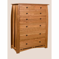 TM2507 African Inlay Trend Manor 7 Drawer Chest