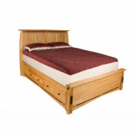 Trend Manor African Inlay Storage Bed
