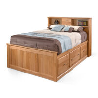 Archbold Alder bookcase storage bed