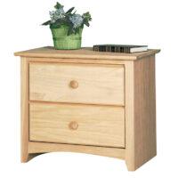 IN_1602 Texas Made Shaker 2 Drawer Nightstand