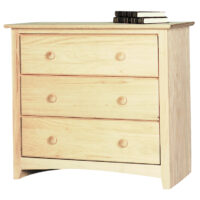 IN1603 3 Drawer Shaker Chest Wide Nightstand