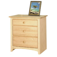 IN_1609 Texas Made Shaker 3 Drawer Nightstand