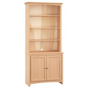 McKenzie Step Back Bookcase Collection Unfinished